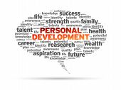 pic of self assessment  - Personal Development word speech bubble on white background - JPG