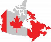 foto of canada maple leaf  - illustration of a Canada Maple Leaf in the national colors - JPG