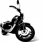 stock photo of chopper  - new black sports super bike  - JPG