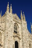 picture of milan  - Facade of the Milan cathedral - JPG