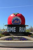 The Famous Shea Stadium Home Run Apple on Mets Plaza in the front of Citi Field