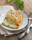 Crepes With Fresh Herbs