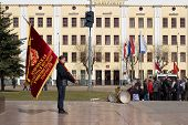 Flag Bearer Of Kirov Regional Organization Of Communist Party