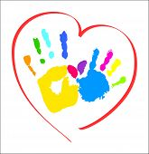 stock photo of hand heart  - Mother - JPG