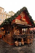 Trdelnik - Rolled Pastries On Prague Christmas Market