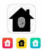 Fingerprint home secure icon.