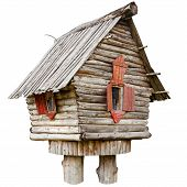 stock photo of hillbilly  - fairy witch house on chicken legs from folklore isolated - JPG