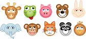 stock photo of teddy-bear  - A collection of cute furry animal heads - JPG