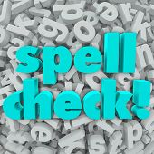 Spell Check Words Letter Background Error Checking Program