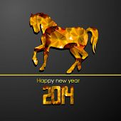 image of chinese new year horse  - Happy New Year 2014 celebration flyer - JPG