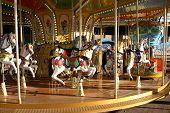foto of carousel horse  - Entertainment concept - JPG