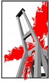 stock photo of beheaded  - Guillotine symbol of death illustration vector art - JPG
