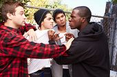 picture of gangster  - Fight Breaking Out Amongst Gang Members - JPG
