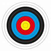image of missing  - Isolated colorful bullseye target without score numbers - JPG