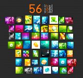 picture of glowing  - Mega collection of light shiny layout abstract templates - JPG