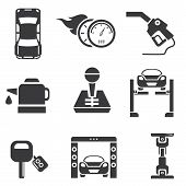 pic of denude  - set of 9 automotive icons - JPG