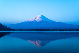 foto of inverted  - inverted image of Mt  Fuji - JPG
