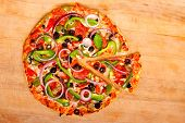 Pizza With Vegetables And Pepperoni