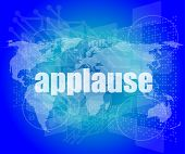 picture of applause  - business concept - JPG