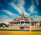picture of royal palace  - Vintage retro effect filtered hipster style image of  Royal Palace complex - JPG