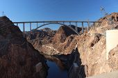 picture of hydroelectric  - Hoover Dam Hydroelectric Structure on Colorado River