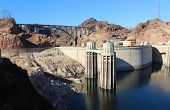 stock photo of hydroelectric  - Hoover Dam Hydroelectric Structure on Colorado River - JPG