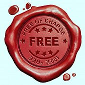 picture of wax seal  - free of charge 100 - JPG