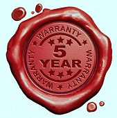 pic of credential  - 5 Year warranty quality label guaranteed product red wax seal stamp  - JPG