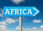 Africa continent tourism vacation and travel destination sign  poster
