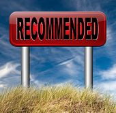 pic of recommendation  - recommended top quality product review recommendation for best choice optimal solution  - JPG