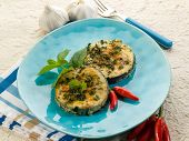 foto of swordfish  - grilled swordfish with mint and hot chili pepper - JPG