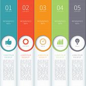 picture of step-up  - Modern minimal colorful arrow infographics elements - JPG