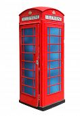 image of phone-booth  - Classic British red phone booth in London UK - JPG