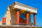 stock photo of minos  - Knossos Palace ruins - JPG