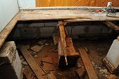 foto of reconstruction  - Reconstruction of the severely damaged floor on rural cottage - JPG