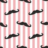 picture of mustache  - Seamless vector mustache background - JPG