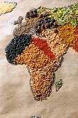 picture of kindness  - Map of world made from different kinds of spices - JPG