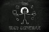 stock photo of juggling  - productivity and multitasking - JPG