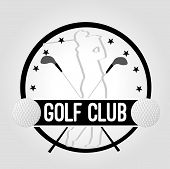 picture of clubbing  - icon Golf Club with golfer - JPG