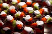 pic of exotic_food  - Cream and fruit dessert close up  - JPG