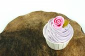 pic of sugarpaste  - sweet dessert cupcakes on white background clearly - JPG