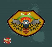 picture of paintball  - Paintball team logo and emblem - JPG