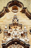 pic of senora  - Ornate architecture above the doorway Our Lady of Rest church  - JPG