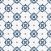 Постер, плакат: Blue and white delft pattern