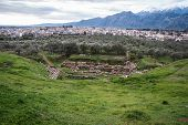 picture of greek  - Ancient Greek ruins at the archaeological place at Sparta Greece - JPG