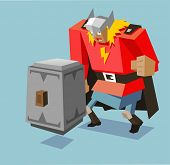 picture of thors hammer  - thor with big hammer - JPG