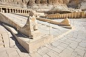 stock photo of mortuary  - Temple between the Valley of Kings and the Valley of Queens - JPG