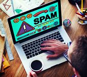 picture of spam  - Spam Problem Virus Online Malware Hacking Concept - JPG