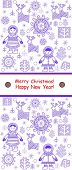 stock photo of eskimos  - Greeting winter vertical card with eskimo - JPG