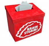 foto of suggestive  - Brainstorm word on a red suggestion - JPG